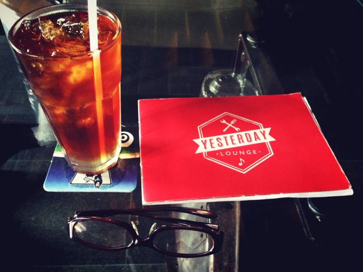 Glasses Journey with Iced Tea