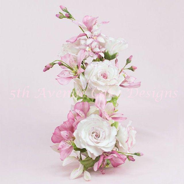 Rose and Alstroemeria Lily Flower Paste Keepsake