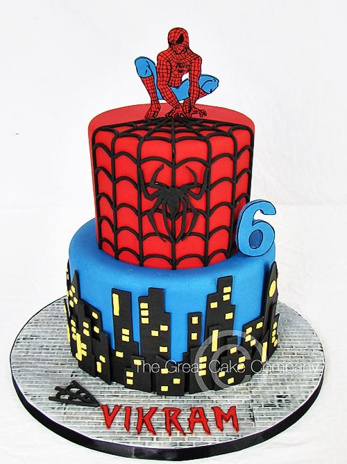 Birthday Cake Designs Spiderman : 25+ best ideas about Spider man cakes on Pinterest Cake ...