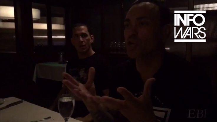 Eddie Bravo talks Flat Earth at INFOWARS dinner - Mark Sargent ✅