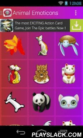Animal Emoticons  Android App - playslack.com ,  In animal emoticons find an excellent collection of animal icons that you can share with friends, family and the love of your life. There is no better way to tell that person what you want to convey, with a emoticon, select the icon that best suits what you want to convey with animal stickers, press image and share. Features ★ Free It's application which you can download for free.★ Speed It has been fully optimized for all the application run…
