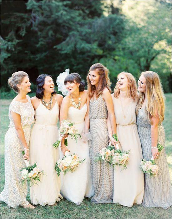 78  ideas about Cream Bridesmaid Dresses on Pinterest  Weddings ...
