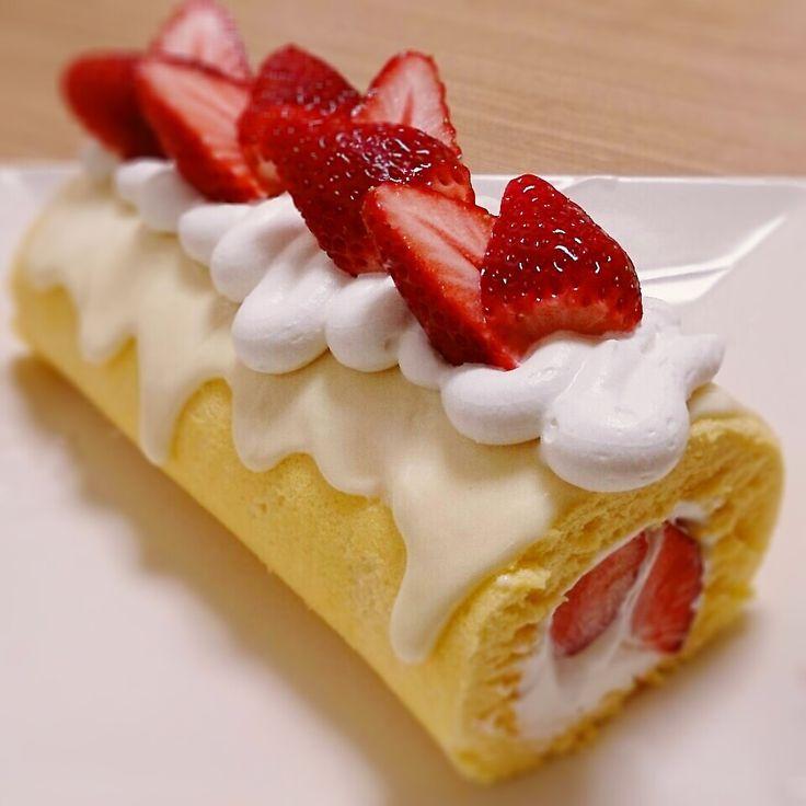 ホワイトチョコ♡ロールケーキ