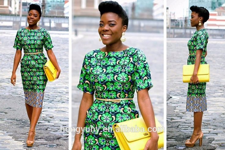 M2811 modern African print style dress patterns, African fashion designs short sleeves dress , dashiki african dress