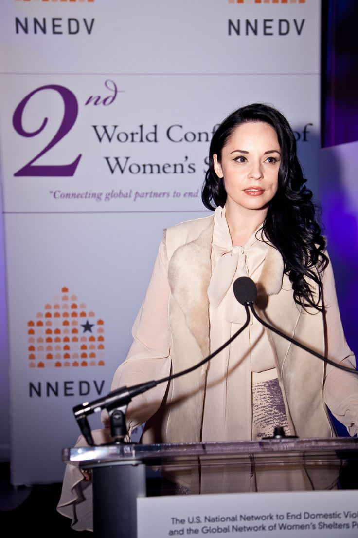 Andreea Marin, Avon Romania's ambassador for social causes at the international conference against domestic violence.