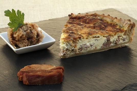 Terroir de Touraine - Mangez local et de saison - Les recettes - Tarte aux rillons et rillettes de Tours