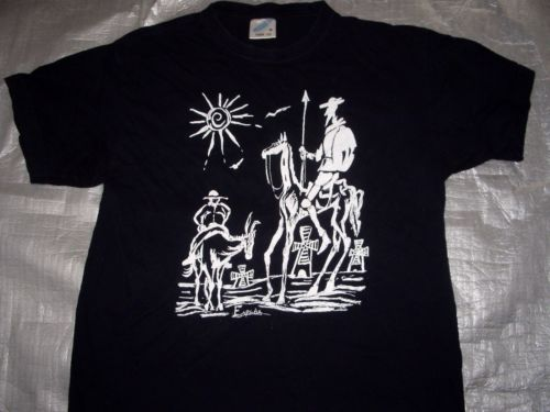 Vintage Picasso Don Quixote Espana Painting T Shirt Adult Medium