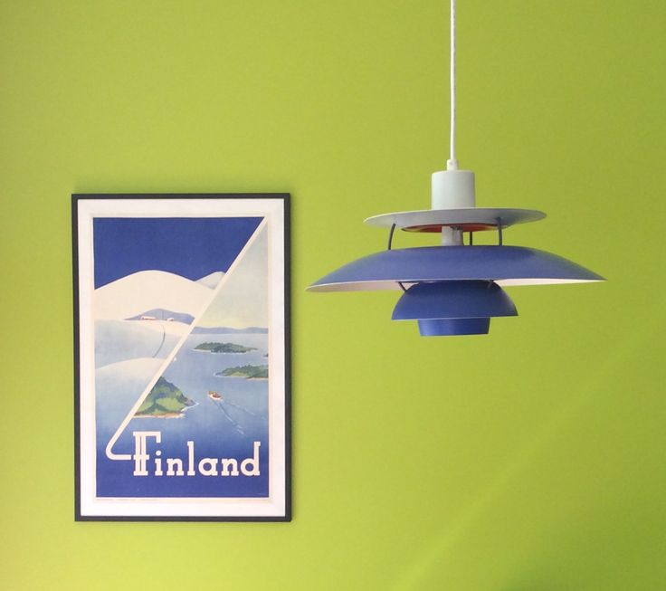 Original 1950s travel poster Finland
