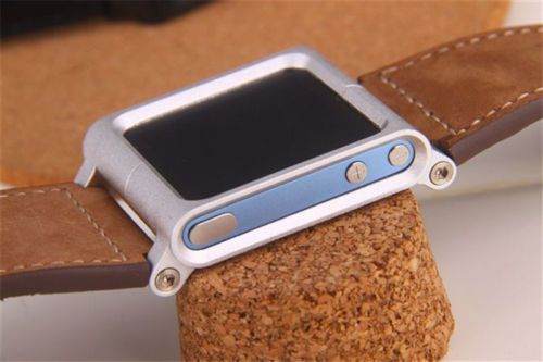 Hot Leather Multi-Touch Wrist Strap Watch Band for iPod Nano 6 6th Generation UK | eBay