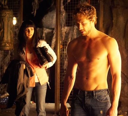 Kris Holden-Ried plays Dyson, a sexy homicide detective who also happens to be a 1,000-year-old wolf-shifter.