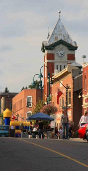 Historic old post office clock tower ..... a downtown Bracebridge landmark!