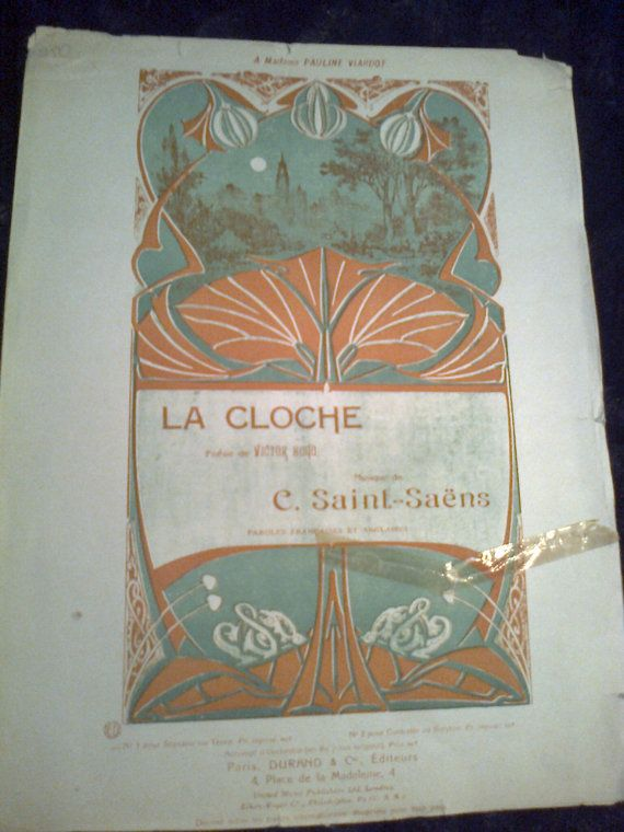 La cloche C Saint Saens  for voice and piano very rare by Lionsoul, €50.00