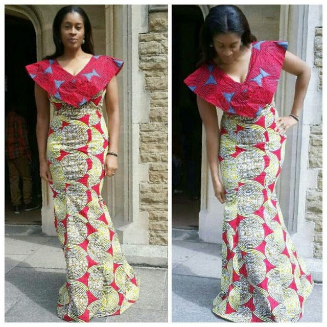 http://www.dezangozone.com/2016/11/simple-and-lovely-ankara-long-gown.html Simple and Lovely Ankara Long Gown Styles