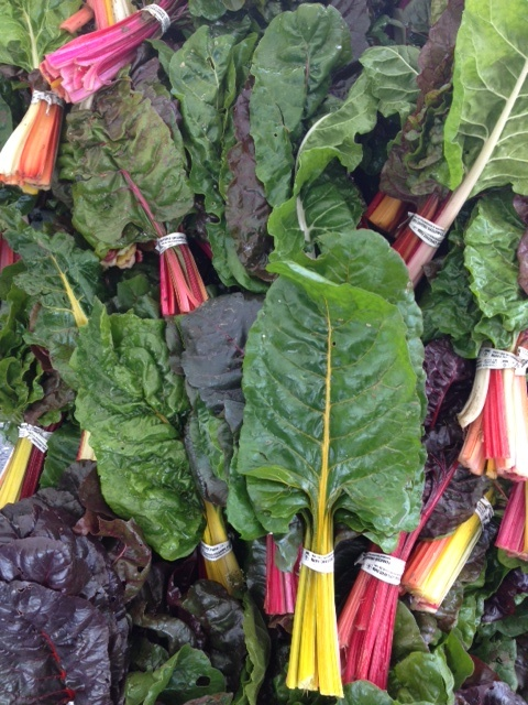 Rainbow chard at the Campbell Farmers Market