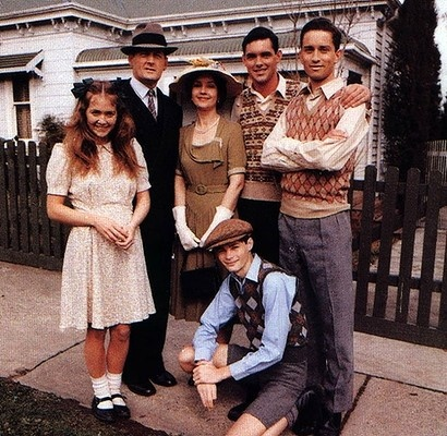 The Australian drama series The Sullivans followed the lives of the middle-class Melbourne family from the commencement of World War II. Over the course of the series, between 1976-1983, they explored the reality of war and the impact it leaves on survivors.  http://www.essentialkids.com.au/photogallery/entertaining-kids/tv-and-movies/retro-kids-tv-shows-20120710-21sta.html