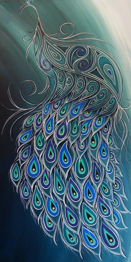 Peacock Tahi Painting