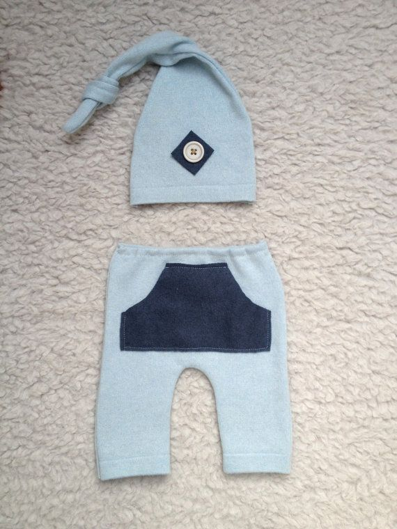 0-1 months Trousers  cap for newborn baby boy by KaroLovewdzianka