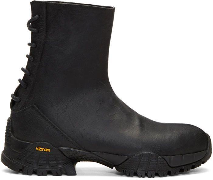 Alyx SSENSE Exclusive Black Cut Back Hiking Boots