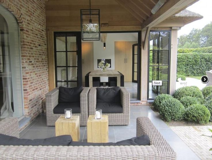 Keuken met veranda