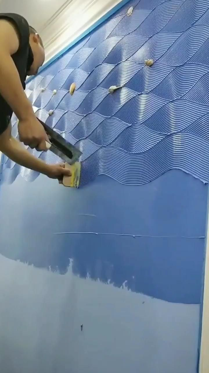 How To Use Wall Putty To Make Walls Artistic Video Wall Patterns Oddly Satisfying Videos Wall