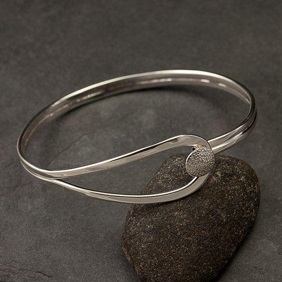Silver Bracelet - http://www.etsy.com/listing/96619660/modern-sterling-silver-bracelet-sterling