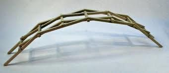 leonardo davinci's self-supporting arch bridge
