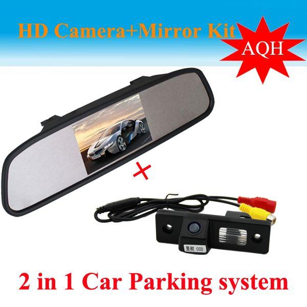 "4.3"" Car Monitor mirror + Car backup rear view parking camera For Chevrolet Epica Lova Aveo Captiva Cruze car reverse camera"