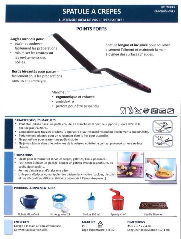 Produit Tupperware : spatule à crêpes