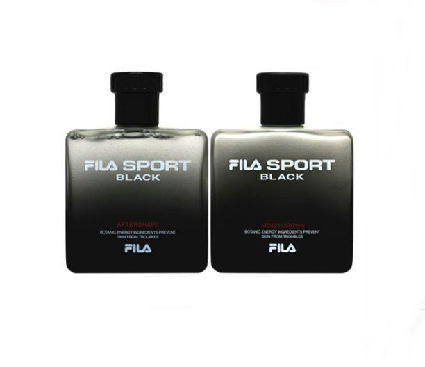 FILA SPORT BLACK for Men Skin Care Set, AFTERSHAVE 125ml + MOISTURIZER 125ml #FILASPORTBLACK