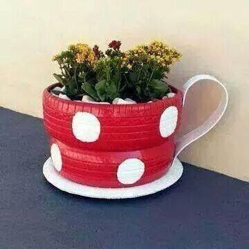 14 best jardn images on Pinterest Tyres recycle Garden deco and