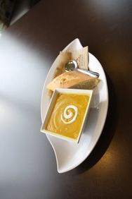 From the menu of: Atlanta Bread Company  Love this butternut squash soup - gonna have to try to make it some day.