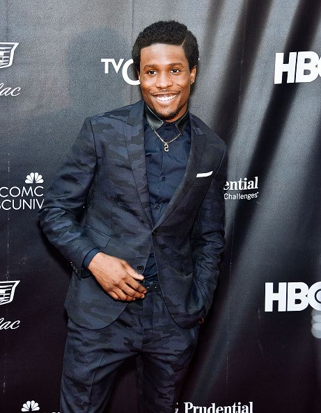 Shameik Moore in Neil Barrett at the Premiere of Dope in New York