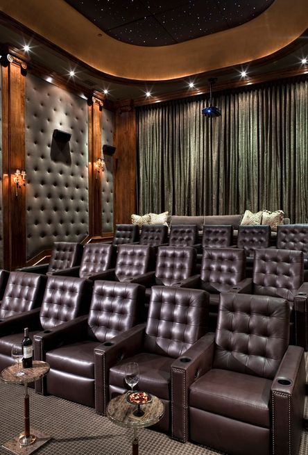 Beautiful Leather Seating Hometheater Want A Living Room Theater Above The Garage