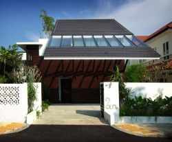 3 Storey Tropical House design by Aamer Architects