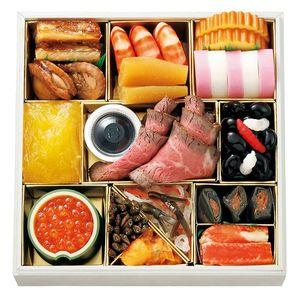New Year dish. 百八十年有余の歴史を刻む、由緒ある日本料理の老舗。【なだ万】おせち料理 多久味 1段重