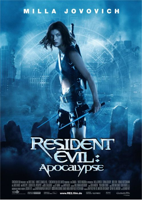 Resident Evil: Apocalypse Not as terrifying as the first. She's back and kicking ass. {Game: Resident Evil 2 (1998)}