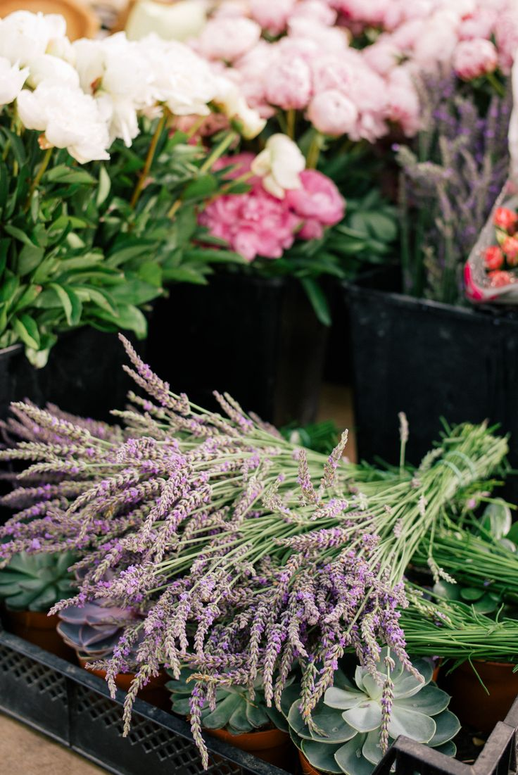 Gal Meets Glam Contributor Series: Market Breakfast Table In France - Fresh market flowers