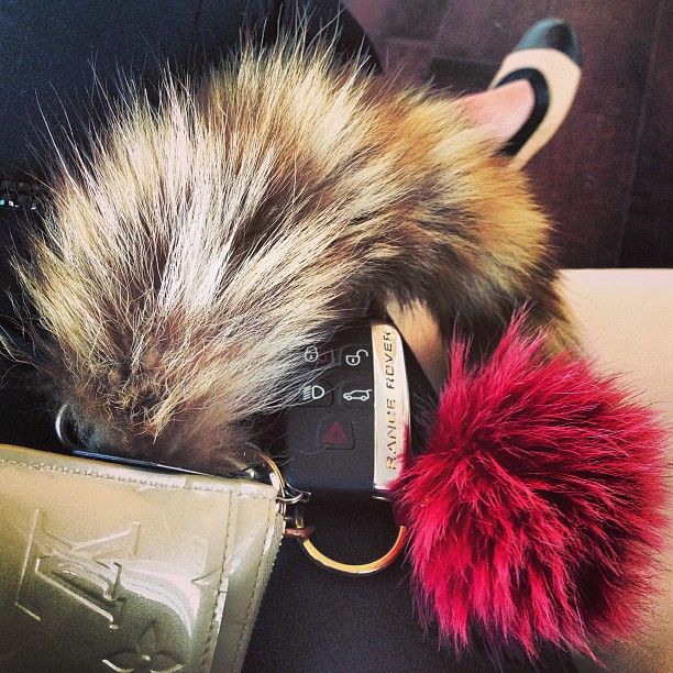 fox tail keychain kendall - Google Search