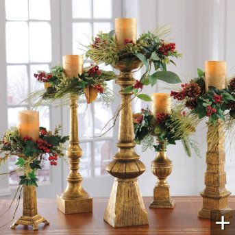 73 best images about CANDLES CANDLE STICKS on Pinterest #2: d17c2742a3f761ae indoor christmas decorations christmas candles