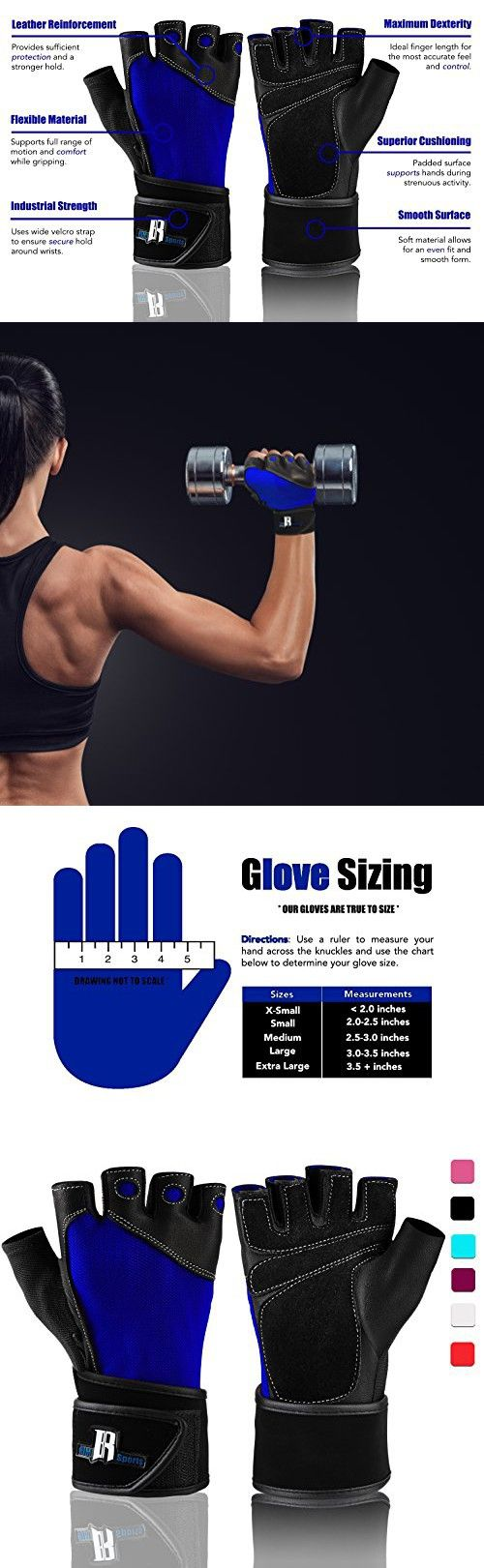 Mens piloxing gloves - Weight Lifting Gloves With Wrist Wraps Ideal Training Gloves Premium Workout Gloves With Wrist