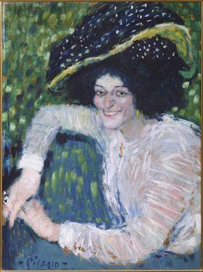 busto de mujer sonriente buste de femme souriante 1901 picasso