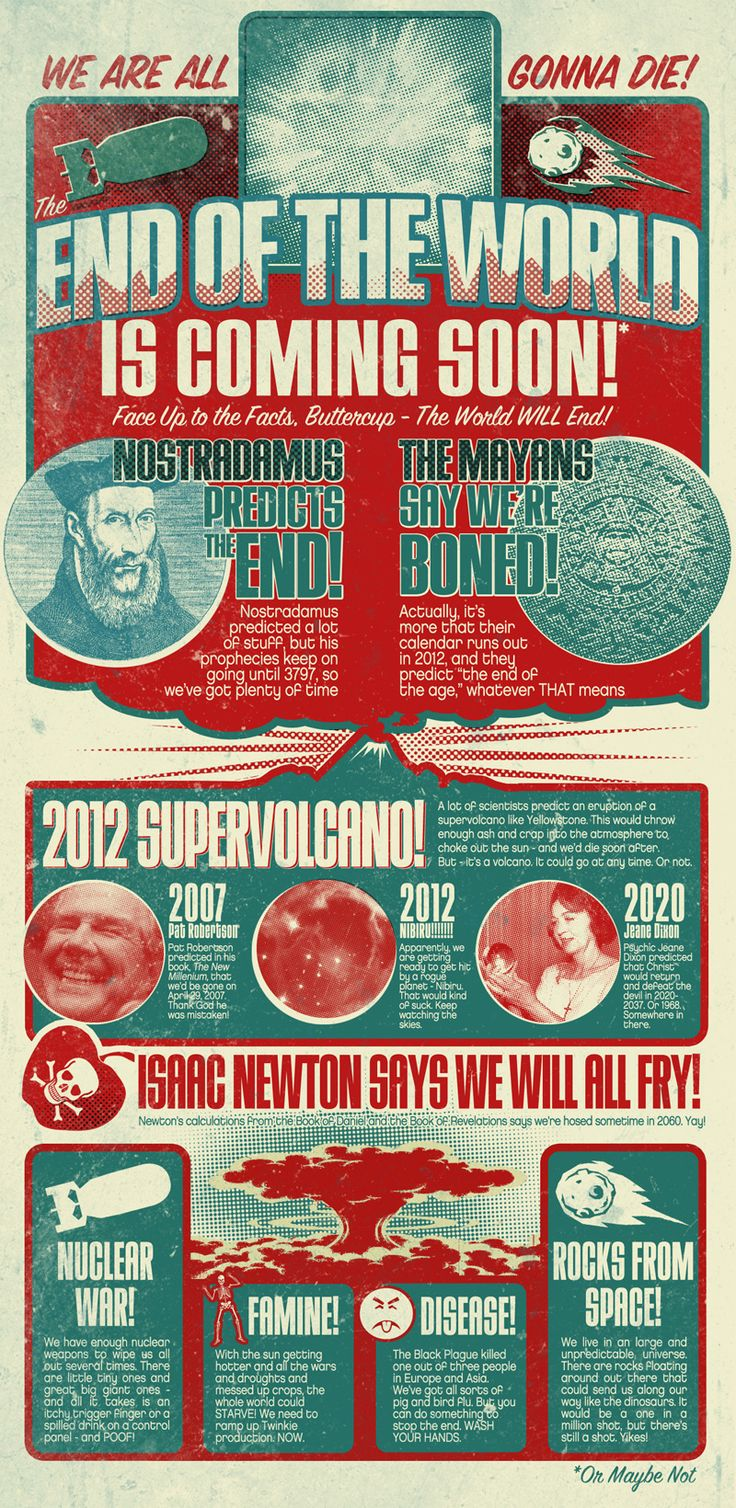 Funny infographic about the end of the world.
