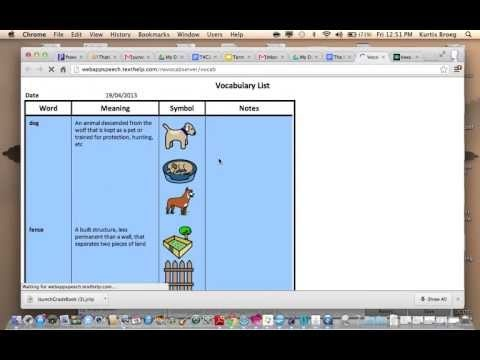 Read & Write extension for Google Chrome provides features for creating a picture vocabulary list.