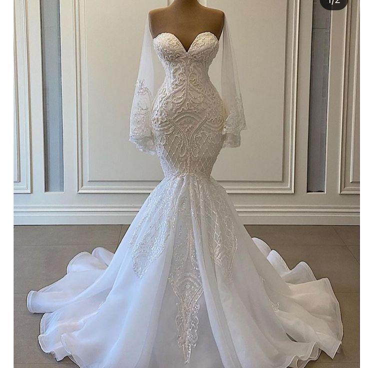 Mermaid wedding dress luxury wedding dress wedding gown