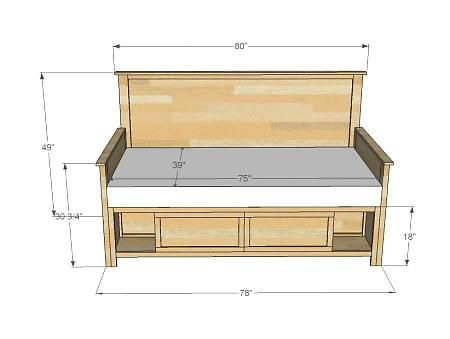 "Daybed plans, add 15"" to footboard and headboard for full size bed"