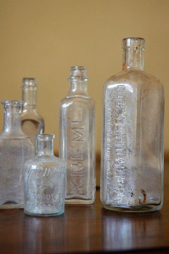 Antique Glass Bottle Collection