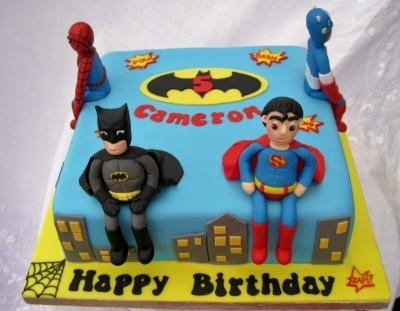 Superhero Birthday Cake By The4manxies on CakeCentral.com