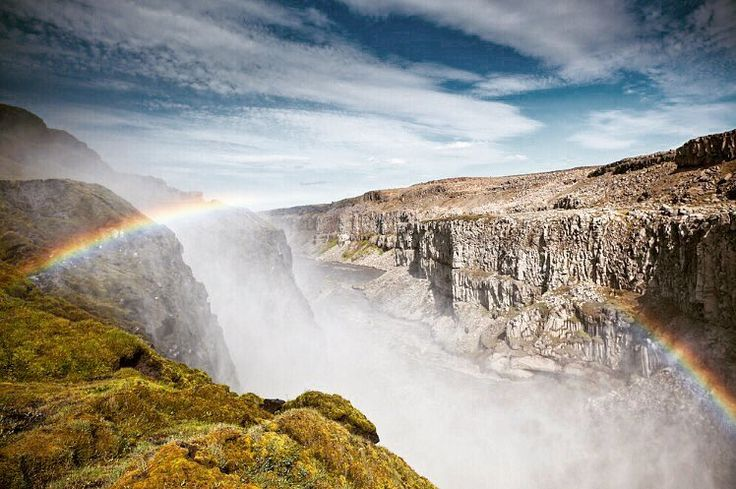 Dettifoss is a waterfall in the Northern Iceland and it is reputed to be the most powerful waterfall in Europe! Btw it is a movie star of the 2012 science-fiction film Prometheus! Have you seen it?  _________________________________ Tap the link in my bio @dvoevnore to find this photo in my @Shutterstock portfolio!