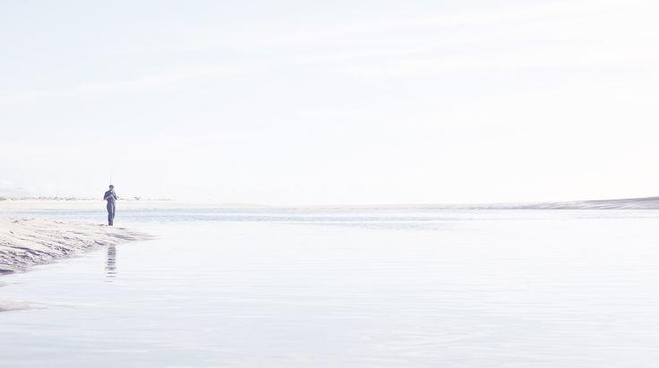 Beach Fishing, West Coast, Water, Our Land, Dan Max, NZ Art.