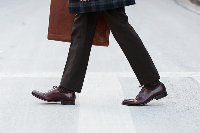 Paul Evans oxblood Martin Wholecut oxford shoe.